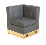 Tufted Black with Custom Kick Panel - Corner Component