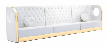 Button Tufted Sectional Sofa with Custom Kick Panel - Seating Arrangement G5
