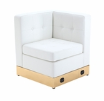 Tufted White with Custom Kick Panel - Corner Component