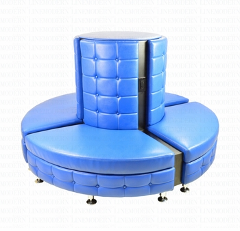 Ultra Modern Round Seating Arrangement with Built in Charging USB and 110V Outlets
