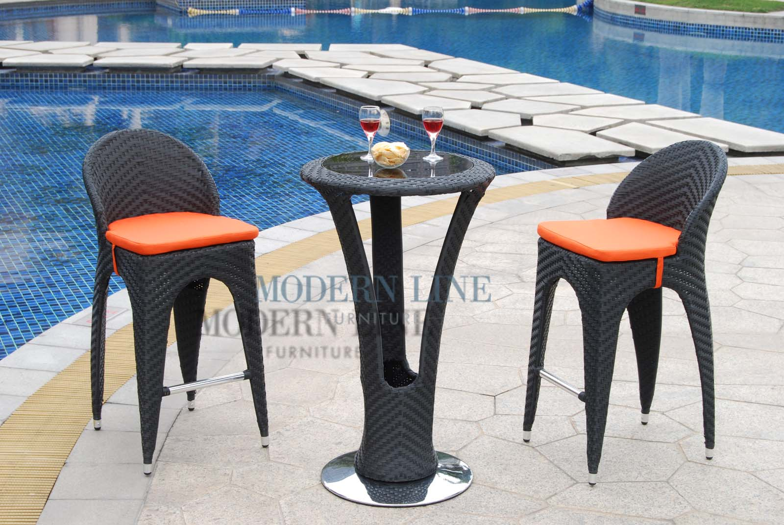 Modern Line Furniture   Commercial Furniture   Custom Made Furniture |  Outdoor Furniture | Outdoor Patio Dining | | Unique Modern Outdoor Patio  Bar Table ...
