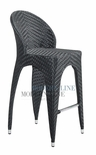 Unique Modern Outdoor Patio Black Bar Stool