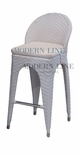 Unique Modern Outdoor White Patio Bar Stool