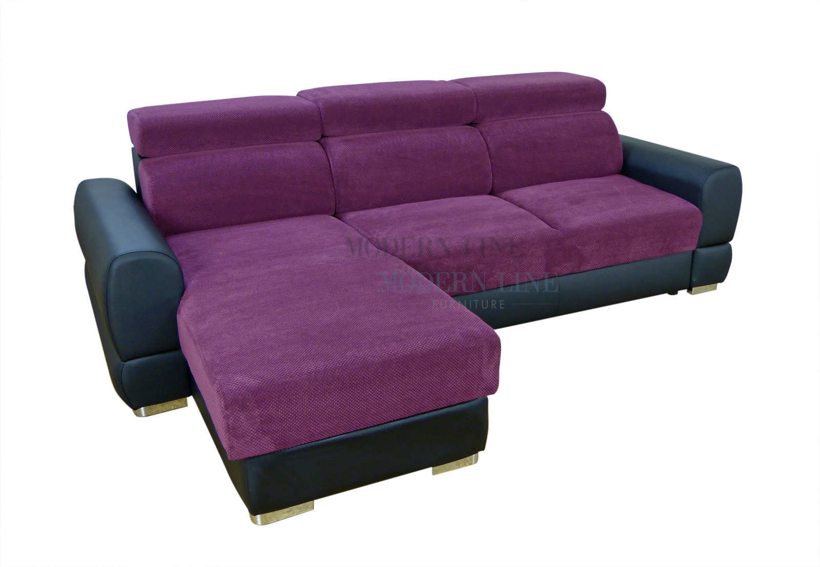 Modern Line Furniture - Commercial Furniture - Custom Made Furniture | Universal Design - Modern Leather u0026 Fabric Sectional Sofa Sleeper With Storage  sc 1 st  Modern Line Furniture : purple sectional sofa chaise - Sectionals, Sofas & Couches