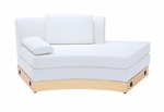 White Open Chaise with Custom Kick Panel - Commercial Grade