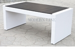 White Wicker - All-Weather Collection- Dining Table