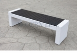 White Wicker - All-Weather Collection - Bench