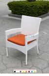 White Wicker - All-Weather Collection - Dining Chair