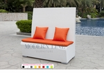 White Wicker - UV Protected & Water Resistant Seating - Tall Bench