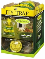 (12 DISPLAY BOX) Rescue - Disposable Non-Toxic Fly Trap ( Regular Size ), FTD-DB12