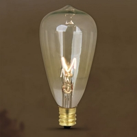 (2 PACK) Feit Vintage Style Antique Edison Bulb 7W 120V ST12 Decorative, E12 Base, BP7ST12