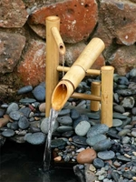 Bamboo Rocking Fountain (Deer Scarer) and Pump Kit (12 Inch)