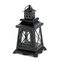 Black Railroad Candle Lantern, 10 1/4 inches 10015412