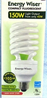 Bulbrite 42W / 150W 120V A19 Warm White Twist CFL E26 Medium Base CF42C/WW 509542