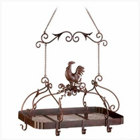 Country Rooster Pot Hanger 12657