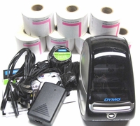 DYMO 1750283 LabelWriter Turbo Printer w/7x Rolls 3-Part Endicia 30383 Labels