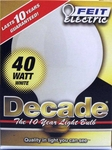 Feit Decade 40W 120V G25 Mini-Globe White E26 Base, 40G25W 40G25W15K