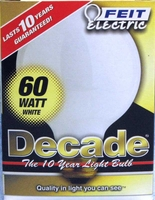 Feit Decade 60W 120V G25 Mini-Globe White E26 Base, 60G25W 60G25W15K