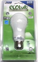 Feit ECOBulb 15W / 60W 120V A19 Soft White CFL E26 Medium Base BPESL15ATMM ESL16AT