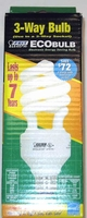 Feit ECOBulb 3-Way Twist CFL 13W 20W 25W / 30W 70W 100W 120V A19 E26 Base ESL30/100T