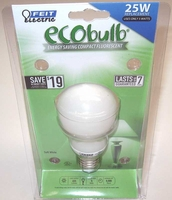 Feit ECOBulb 5W / 25W 120V A19 CFL Soft White E26 Medium Base BPESL5A