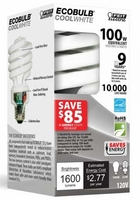 Feit ECOBulb Plus 23W / 100W 120V A19 Cool White Twist CFL E26 Medium Base ESL23TM/ECO/41K