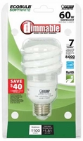 Feit ECOBulb60 Dimmable 15W / 60W 120V A19 Soft White Twist CFL E26 Medium Base BPESL15T/DM(U)