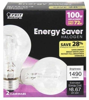Feit ES Halogen (2 PACK) 100W 120V A19 Clear Bulb E26 Base Q72A/CL/2