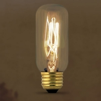 Feit Vintage Style Antique Edison Bulb 40W 120V T12, E26 Base, BP40T12