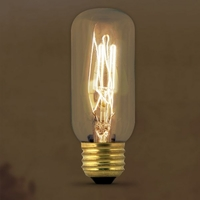 Feit Vintage Style Antique Edison Bulb 60W 120V T12, E26 Base, BP60T12
