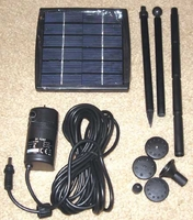 "Fountain Tech Solar Fountain Pump Kit  65GPH 27"" Head, FT-201 SM201"