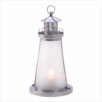 Lighthouse Candle Lamp, 10 inches 13789