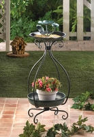 Metal Bird Feeder and Planter 10015693