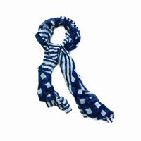 Navy and White Fashion Scarf 10016251
