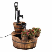 Pump and Barrel Planter Fountain, 34 inches 15115