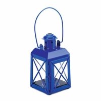 Railroad Candle Lantern, Blue 10015853
