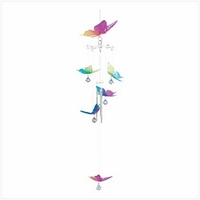 Rainbow Butterfly Wind Chime, 22 inch 12507