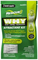 Rescue - WHY Trap Wasp, Hornet, Yellow Jacket Non-Toxic Attractant Refill (2 Week),  WHYTA