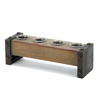 Rustic Bench Candleholder 10015546