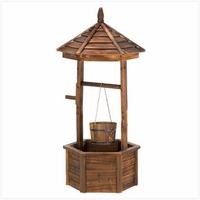 Rustic Wishing Well Planter 14652