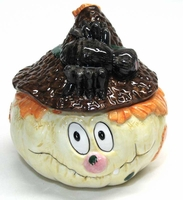 Scarecrow Halloween  Candy Jar 24759