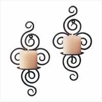 Scroll Wall Candleholders, Pair 32402