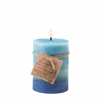 Soothing Leaf Pillar Candle, 3 x 4 inches 12010159