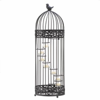 Tall Birdcage Candleholder, 28 inches D1232
