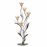 Tall Golden Bouquet Candleholder 10015658
