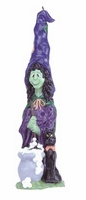 Witch and Cat Halloween Candle, 11 3/4 inches 30337