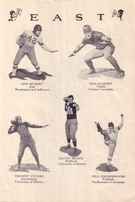 1930 East West Shrine Game college football program (Jack Cannon Dutch Clark Bronko Nagurski Roy Riegels)