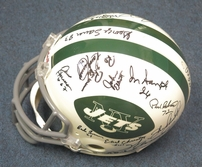 1968 New York Jets Super Bowl III Champion Team autographed full size game model helmet (Joe Namath) Steiner