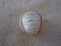1973 Oakland A's World Series Champions team autographed AL baseball (Rollie Fingers Catfish Hunter Reggie Jackson Dick Williams)