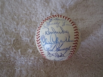 1979 New York Yankees team autographed baseball (Billy Martin Yogi Berra Goose Gossage Ron Guidry Catfish Hunter Reggie Jackson)